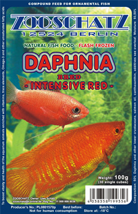 Daphnia intensief rood watervlo plak 500gr