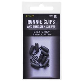 ESP Ronnie Clips & Tungsten Sleeves Silt Grey Small