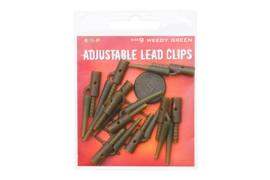 ESP Adjustable Lead Clips Weedy Green