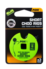 Fox Edges Short Chod Rig Size 6