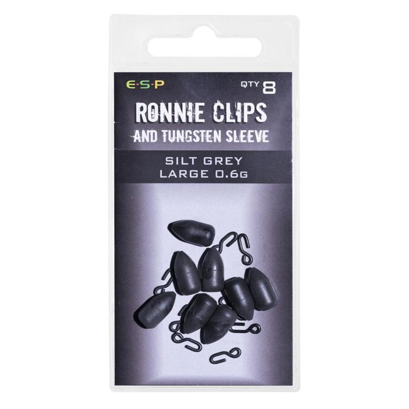 ESP Ronnie Clips & Tungsten Sleeves Silt Grey Large