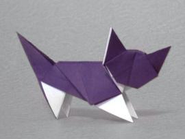 Origami kat ketting