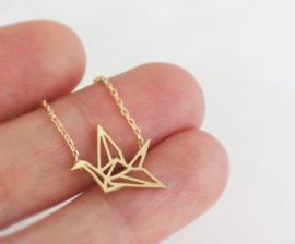 Origami kraanvogel ketting