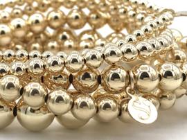 Armband met gouden balletjes 6 mm basis collectie