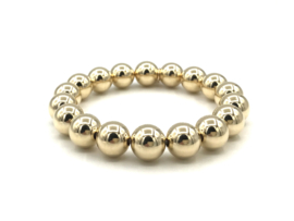 Armband met real gold plated balletjes 10 mm basis collectie