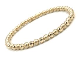 Armband Asya met matte- en glimmende real gold plated balletjes