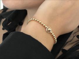 Armband Marley met real gold plated balletjes en zilveren ring