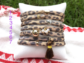 Stretch armband leopard
