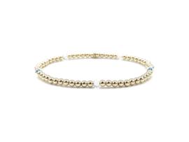 Armband Sammie met real gold plated balletjes en Swarovski crystal