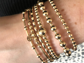Armband Kelly met real gold plated staafjes en balletjes