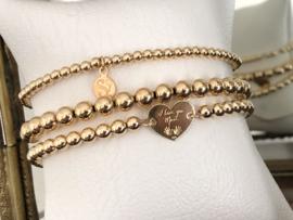Armband Love mum met 925 Sterling zilveren hartje en balletjes