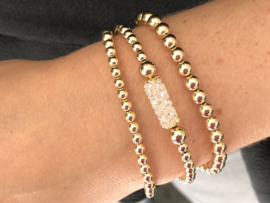 Armband Nour met gouden balletjes en Swarovski crystal