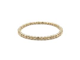Armband Jette met ronde- en facet geslepen real gold plated balletjes