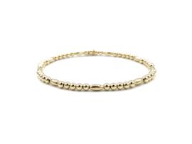 Armband Lisanne met gouden ovale en ronde balletjes
