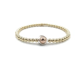 Armband Hart met gouden balletjes