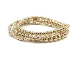 Armband Lilou met gouden staafjes en ovale balletjes