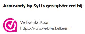 Webwinkelkeur Armcandybysyl.nl