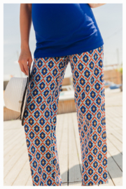 AURORA TROUSERS COTTON SATIN BLUE