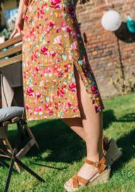 FUCHSIA FLOWER SUMMER DRESS