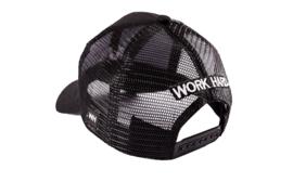 Trucker cap zwart/wit