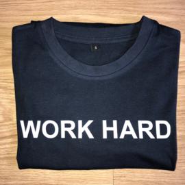 T-shirt donker blauw/wit