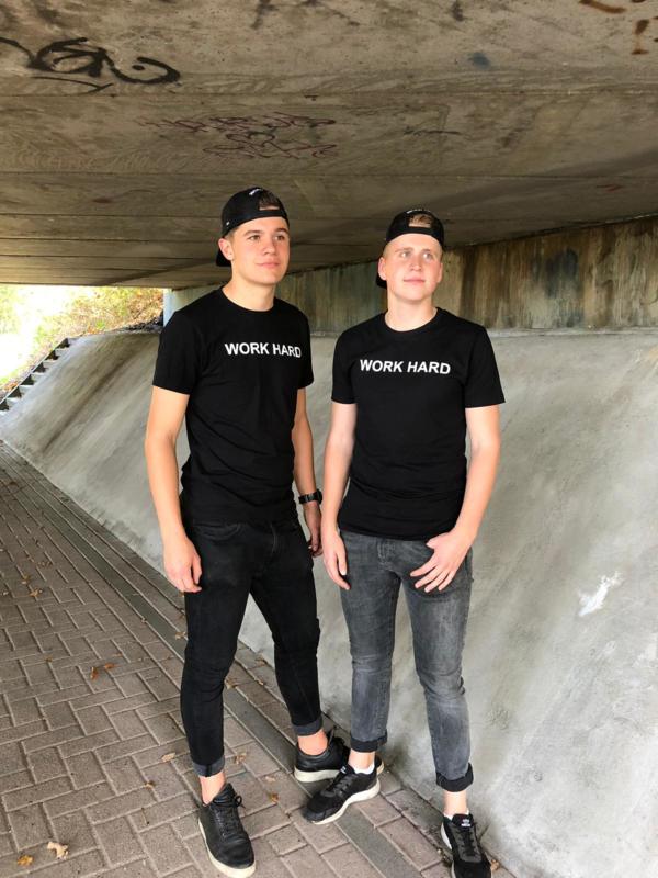 T-shirt zwart/wit