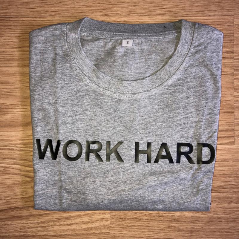 T-shirt grijs/zwart