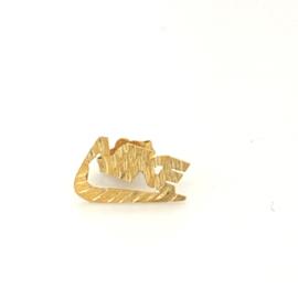 Occasion gouden oorbel met Nike logo