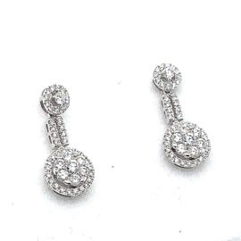 Coronet Diamonds oorhangers 18K bezet met 0,53ct diamant