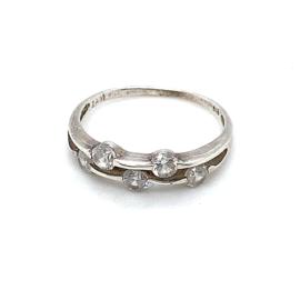 Occasion zilveren ring met 5 zirkonia's