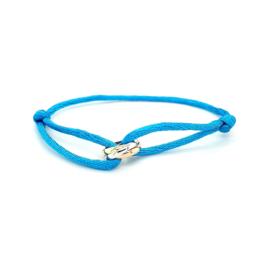Armband satijn lichtblauw 3 rondjes