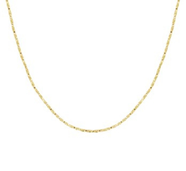 Collier venetiaans gedraaid 1,0 mm 38 cm