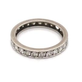 Occasion witgouden alliance ring met diamant 1.50ct SI-J