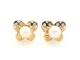 Cataleya Earrings Butterfly pearl