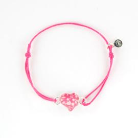 Zilveren Cord Bracelet Heart