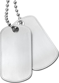 Men Ketting Dogtags Mat - Staal