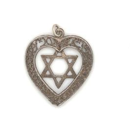 Occasion zilveren hanger met hart en ster