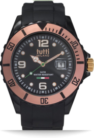 Tutti Milano TM002NORO- Horloge - 42.5 mm - Zwart - Collectie Pigmento