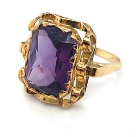 Occasion gouden ring met amethist