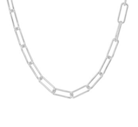 Collier paperclip 5,0 mm 45 cm