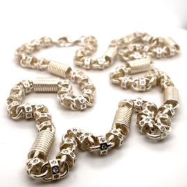 Magnum zilveren heren collier