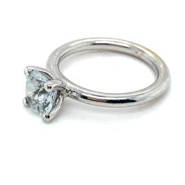 Occasion witgouden ring 'in de stijl van Bron' met topaas