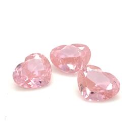 Roze zirkonia hartjes 💕 - 10.90 ct