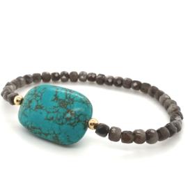 Cataleya armband met maansteen en turkoois