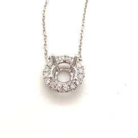 Nieuw montuur voor solitair hanger aan collier met diamant 0.33ct