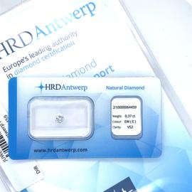 HRD Diamant - 0.37 ct. - briljant - EW+ (E) / VS2