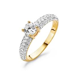 Blush Ring 1135YZI - Geel Goud met Zirconia