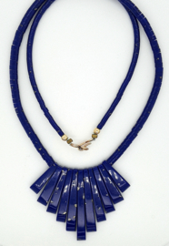Occasion blauw aflopend collier