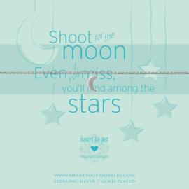 Heart to Get - Shoot for the moon - Zilver