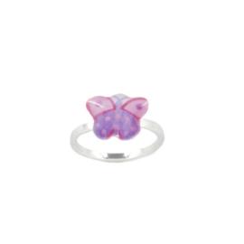 Zilveren Ring Butterfly